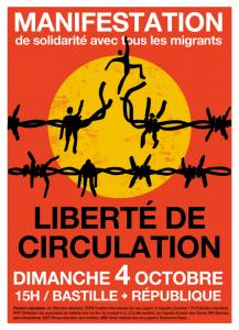 Manifestation de solidarité avec tous les migrants