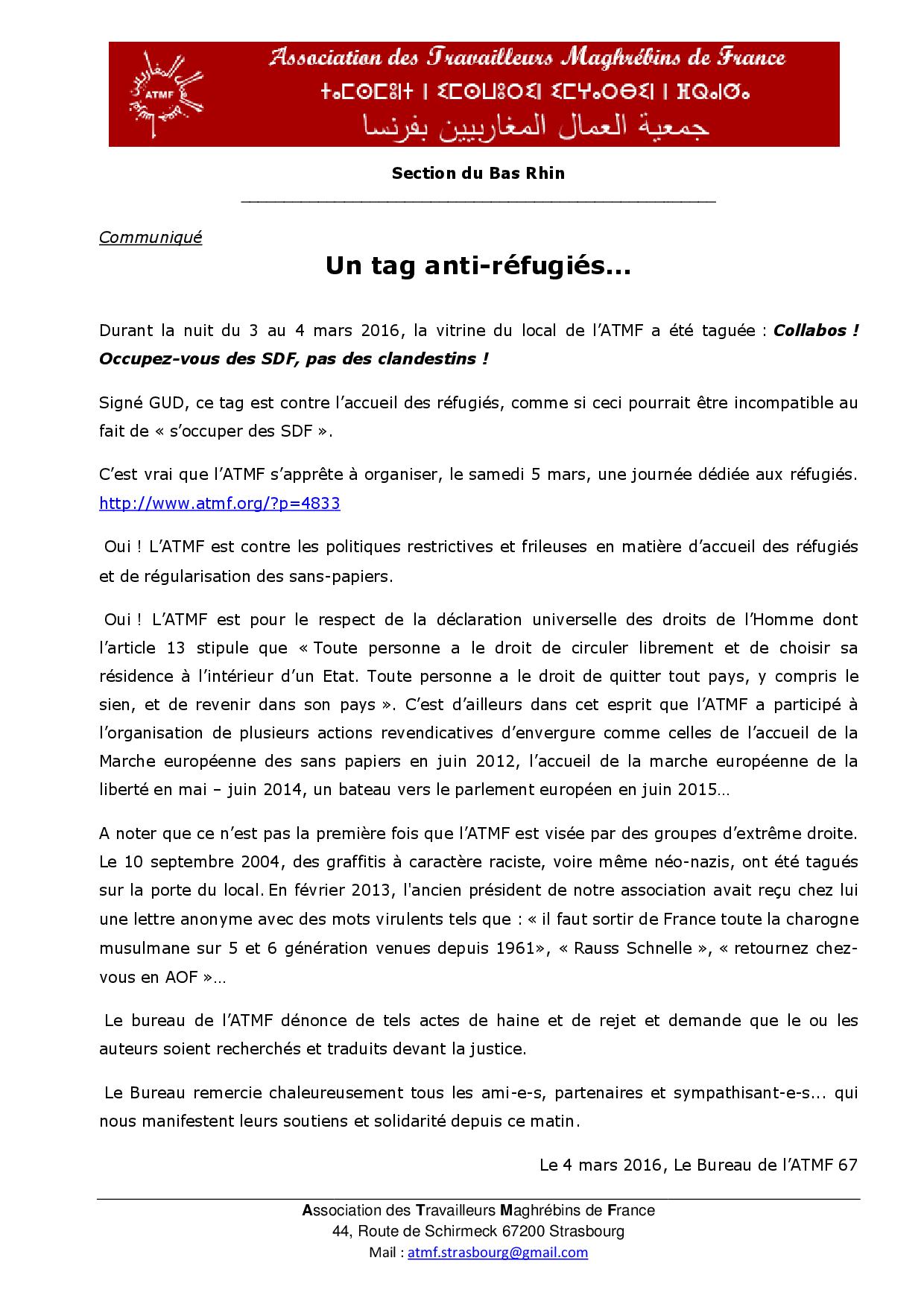 Atmf - communiqué tags gud 04 mars 2016
