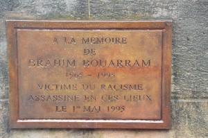 Rassemblement à la mémoire de Brahim Bouarram et de toutes les victimes de crimes racistes – 1er mai 2016