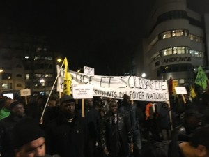 Une grande manifestation de solidarité