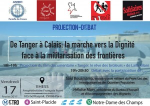 Affiche projetion débat 17 février