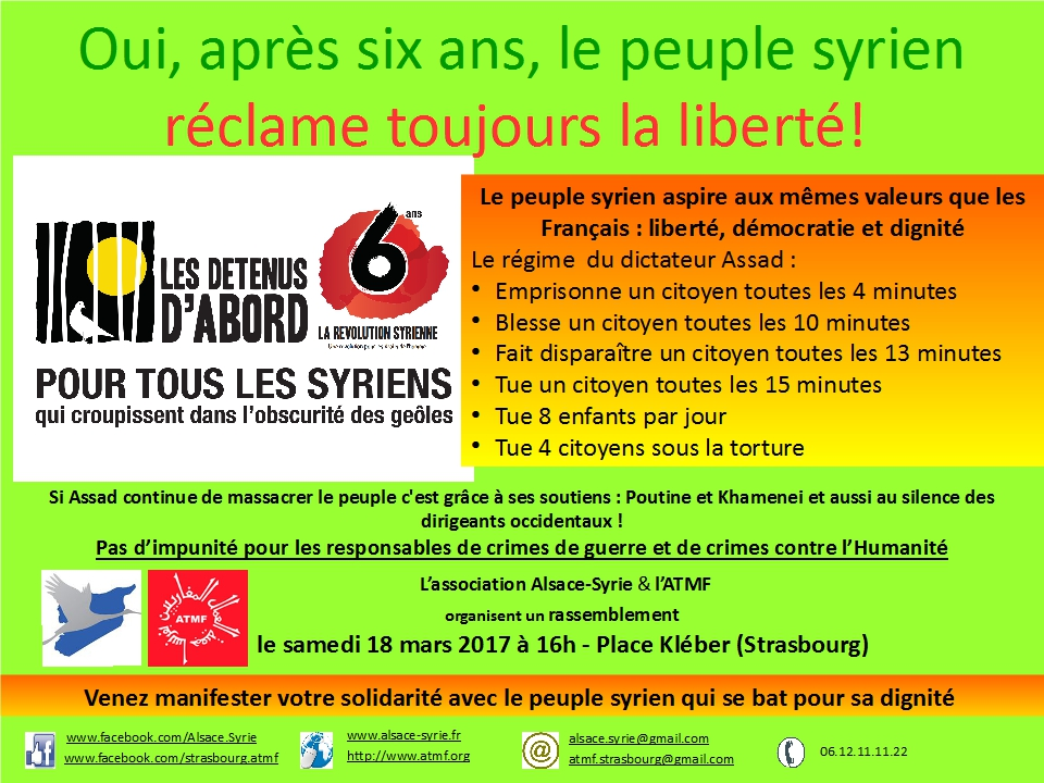 Affiche manifestation 6ème anniversaire. 18.03.17 v3