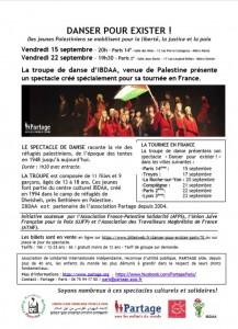 Les spectacles IBDAA des 15 et 22 septembre