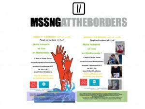 Missing at the borders – les disparus aux frontières : stand le 2/9 à Strasbourg