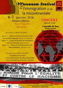 Festival-Moussem de l'Immigration et de la Tricontinentale 6-7 JANVIER 2017
