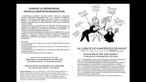 CONTRE LA RÉPRESSION!POUR LA LIBERTÉ DEMANIFESTER !