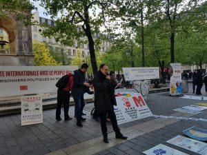Rassemblement de solidarité avec les prisoniers du Hirak du Rif au Maroc
