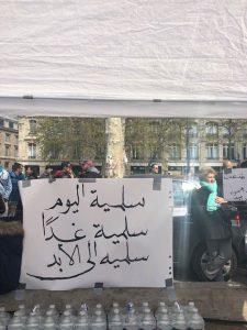 Rassemblent en solidarité avec le peuple algériens
