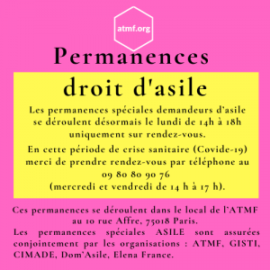 Permanences  droit d'asile