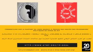 Commentaires sur le rapport du Conseil National des Droits de l'Homme (Maroc) à propos du Hirak du Rif (Hirak Al-Rif)