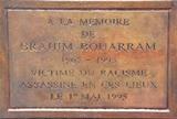 Pour la mémoire de Brahim BOUARRAM