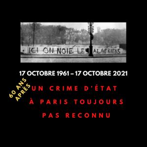 Massacre du 17 octobre 1961 : un crime d'État à Paris, toujours pas reconnu 60 ans après – Atmf 67