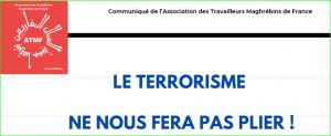 Le terrorisme ne nous fera pas plier !