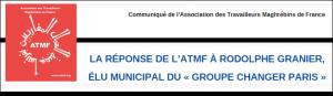 La réponse de l'ATMF à Rodolphe GRANIER, élu municipal du «Groupe Changer Paris»