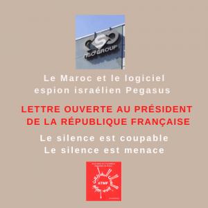 Lettre ouverte au Président de la République Française : Pegasus