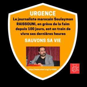 URGENCE : la vie du journaliste marocain Soulayman RAISSOUNI est en DANGER